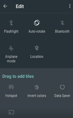 customize quick settings on Android Nougat 7.0