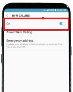 enable Wi-Fi calling on galaxy S8 and galaxy S8 plus