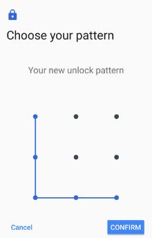 Confirm lock screen pattern on Google pixel