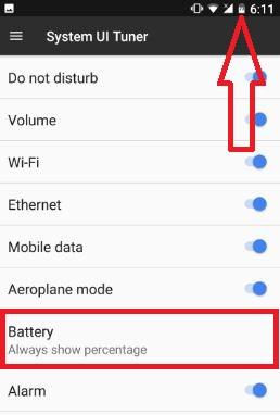 Display battery percentage on pixel XL & pixel