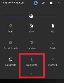 Enable Night mode on Google pixel phone