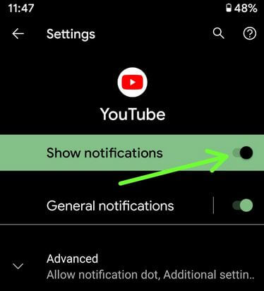 How to Block Certain Notifications For Apps in Google Pixel XL