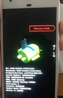 Recovery mode on Google pixel device
