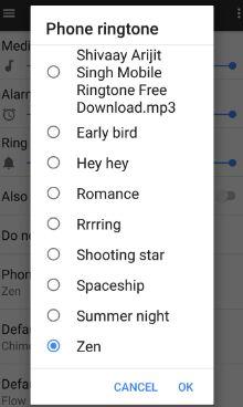 Set phone ringtone in Pixel XL phone
