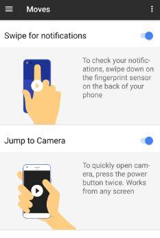 enable Google pixel fingerprint swipe notifications gesture