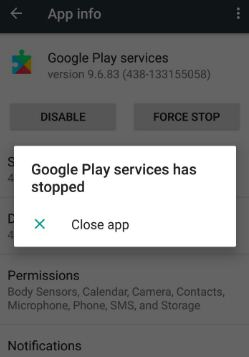foutmelding samsung iphone google play store has stopped