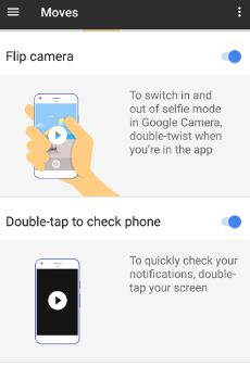 how to use Flip camera gesture on Google pixel phone