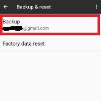tap backup to restore data on pixel XL
