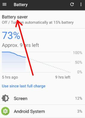 Battery usage by apps on android 8.0 Oreo