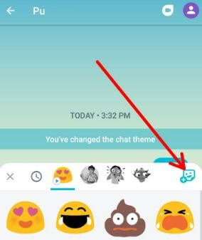Download Stickers packs in Allo app