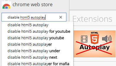 Extension list in Google Chrome