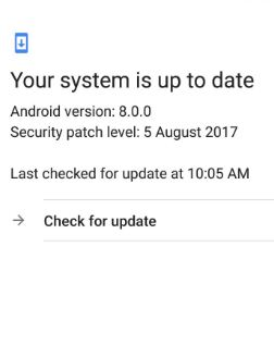 Google Pixel 7.1.2 updated to android 8.0 Oreo