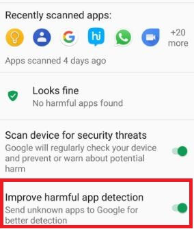 Improve harmfull app detection on android phone