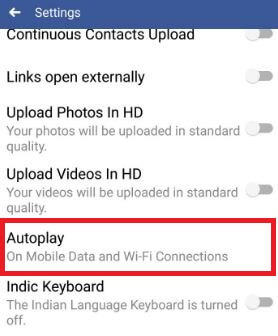 Tap on autoplay video in facebook app