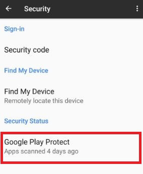 Use Google Play Protect in Pixel XL phone