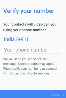 Verify your number to use Duo app in your pixel