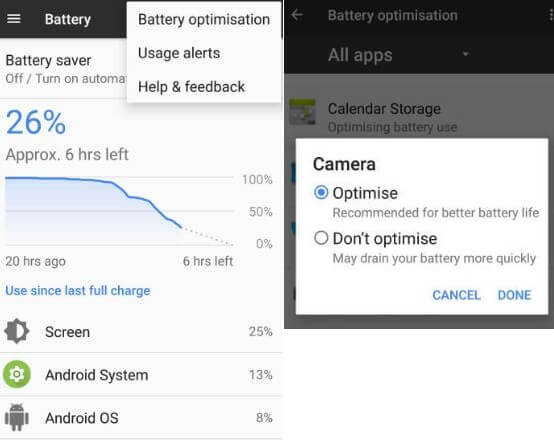 improve battery life on android 8.0 Oreo