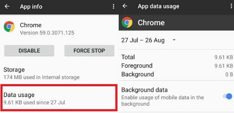 reduce mobile data usage on Google Pixel XL