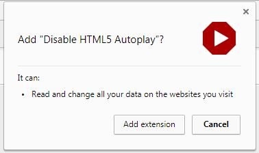 stop auto playing video in Google Chrome