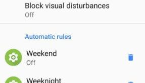 Adjust do not disturb settings in android Oreo 8.0 phone