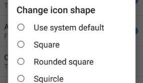Change icon shape in android Oreo 8.0 phone