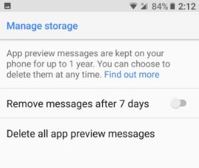 Delete app preview messages on android 8.0 Oreo