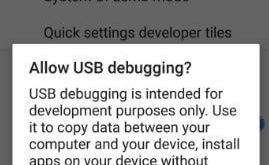 Enable USB debugging on android Oreo 8.0