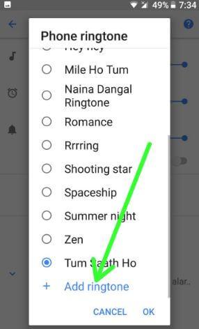 Set custom ringtone in android Oreo 8.0