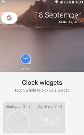 Use widgets on android Oreo home screen