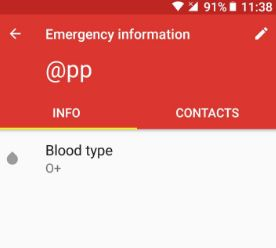 Add emergency information to android Oreo lock screen
