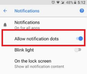 Allow notification dots on android 8.0 Oreo devices