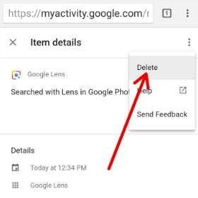 Delete Google lens activity in your Pixel 2