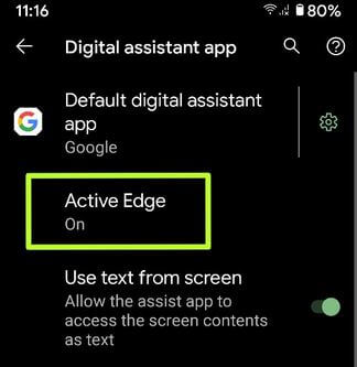 Enable Active Edge on Pixel 2