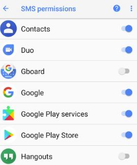 Manage app permissions on android Oreo 8.0