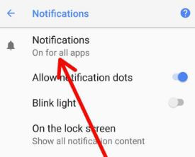 Pixel 2 Notifications settings