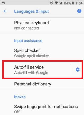 Use Autofill service in android Oreo 8.0 device