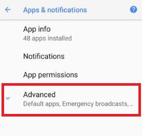 Android Oreo advanced menu for active edge settings