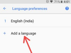 Language preferences in android Oreo