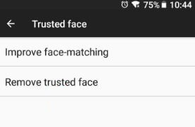 Remove trusted face in android 8.1 Oreo