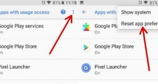 Reset app preferences on android Oreo device