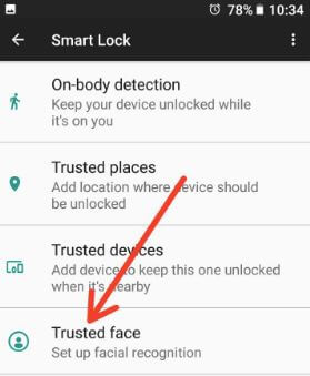 Use trusted face feature in android 8.0 Oreo