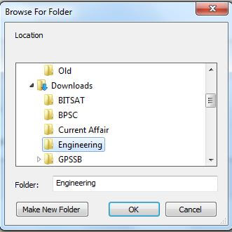 Change download location directory in Google chrome browser