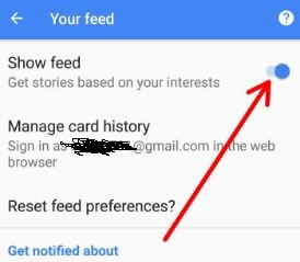 Enable Google feed in android Oreo phone