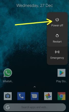 Restart safe mode your Pixel 2 device