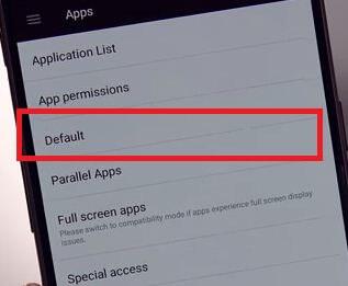 Set default apps on OnePlus 5T