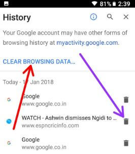 Delete Google search history on Pixel phone