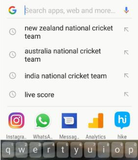Google search history in android Oreo 8.0 device