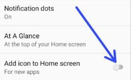 How to disable add icon to home screen on android Oreo