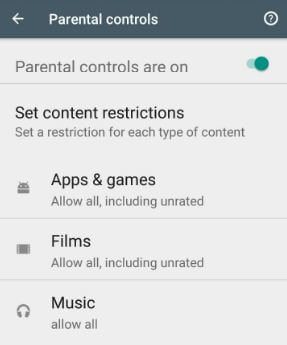 How to set parental controls on android internet