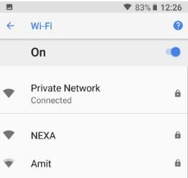 How to show wifi network speed in android 8.1 Oreo